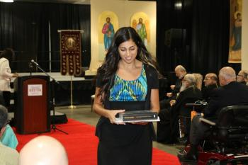 Scholarship winner Justine Younes, SOYO President of the Diocese of Ottawa, Eastern Canada and Upstate New York