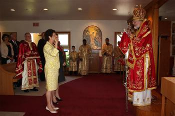 Bishop Joseph Inducts Fadwa Samara into Order
