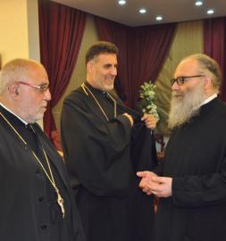 Patriarch John X receives Antiochian presbyters Fr. Anthony Gabriel and Fr. Thomas Zain