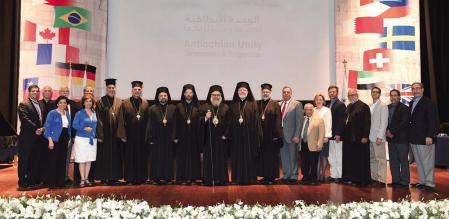 Patriarch John X with North American attendees