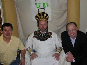 Fr. Joseph Huneycutt as Joseph the Patriarch, with Alvaro Palencia & Bob Macey