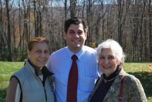 Khalil Samara with Fr. John Namie's sisters, Jane and Joan