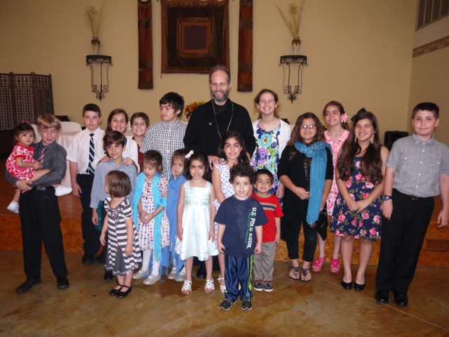 Texas children with Metropolitan Silouan