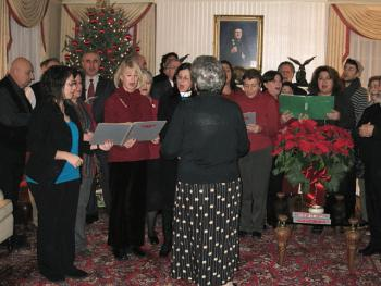 Choir of St. George Visits Archdiocese Headquarters, Christmas 2010