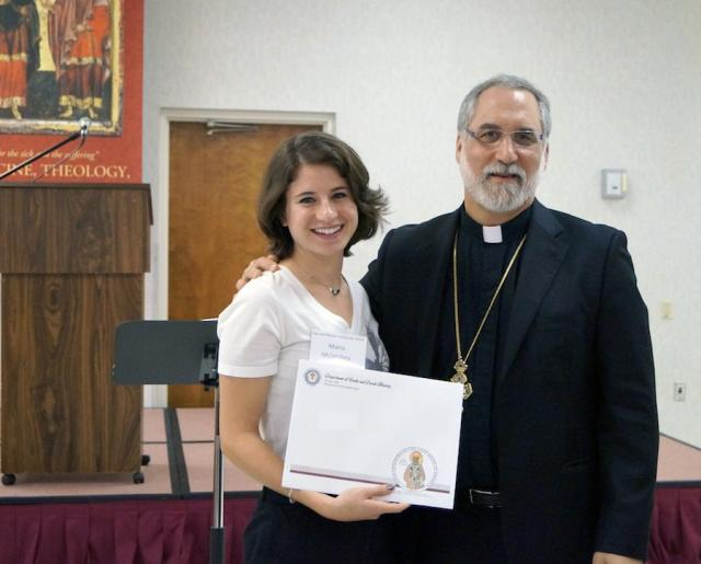 Maria McClatchy with Fr. Joseph Purpura
