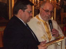 Montreal Mayor Denis Coderre Visits St. George Church in Montreal