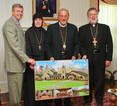 Mother Alexandra and Architect Doug Shoop Present New Convent Plans to Metropolitan Philip