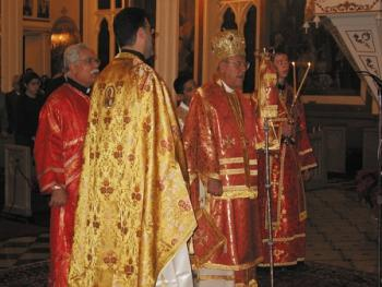 Metropolitan Philip presides at the Christmas Eve Liturgy at St. Nicholas Cathedral in Brooklyn
