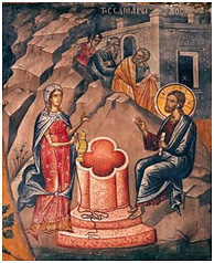 Christ with the Samaritan Woman - an example of honesty