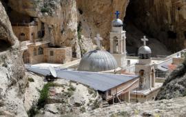 Monastery of St. Thekla, Maloula, Syria (Bernard Gagnon/Wikimedia Commons)