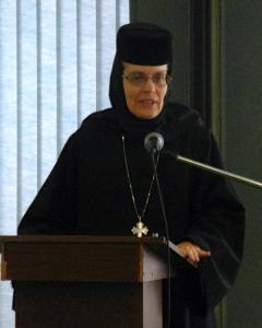 Mother Christophora, speaking at a previous Clergy Wives Retreat