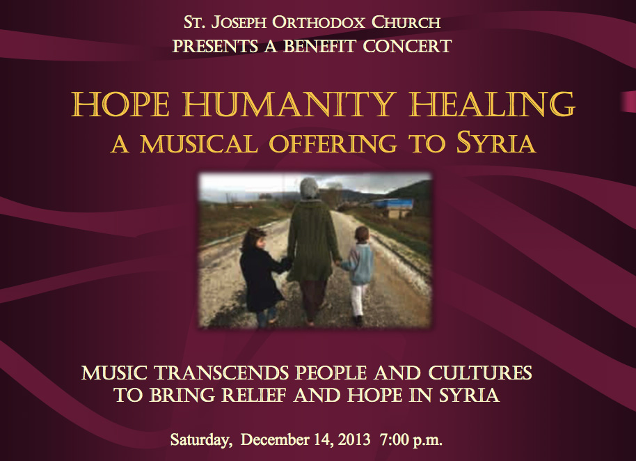 Hope, Humanity, Healing - A Benefit Concert for Syria