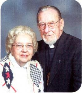 Memory Eternal! Kh. Lukie Neustrom with the late Fr. Thomas