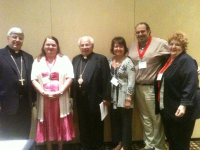 Fr. Elia Shalhoub, Spiritual Advisor; Terry Rogers, 2nd Vice-Chair; His Grace Bishop Antoun; Debie Khoury, 1st Vice-Chair; Dan Kevorkian, Treasurer; Kh. Betty Randolf, Secretary; Not pictured: Chairman Ibrahim Chalhoub