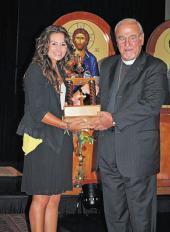Winner of the 2011 Oratorical Contest: Madeleine Lengyel-Leahu
