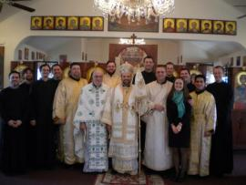 Bishop Nicholas Ordains Seminarian Burke Vair to Holy Diaconate