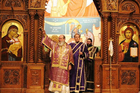 Bishop Basil Ordains Deacon David Sebits