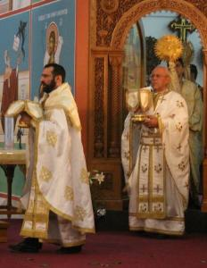 The Divine Liturgy at St. Elias Antiochian Orthodox Christian Cathedral of Ottawa, Ontario, Canada.