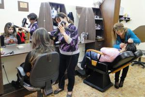 Hair salon created with the help of IOCC funds