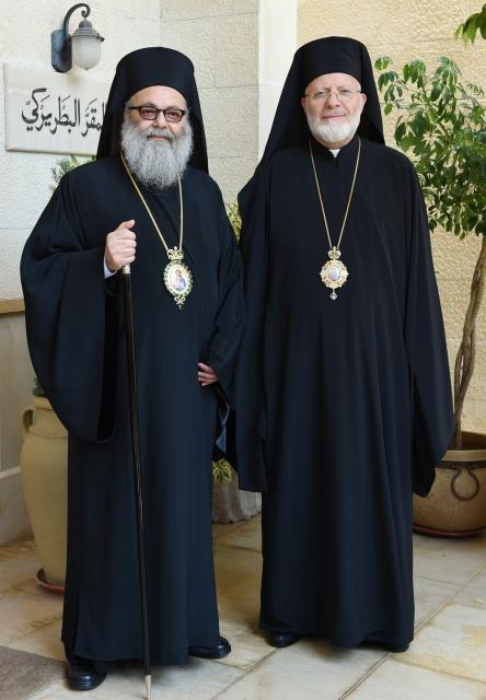Patriarch John X and Metropolitan Joseph July 2014
