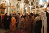 Serving the Trisagion for His Beatitude Patriarch Ignatius IV