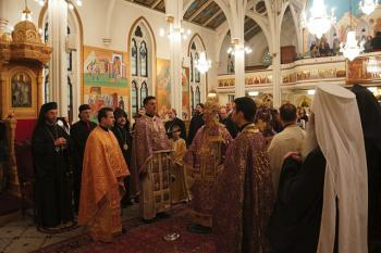 Serving the Trisagion for His Beatitude Patriarch Ignatius IV