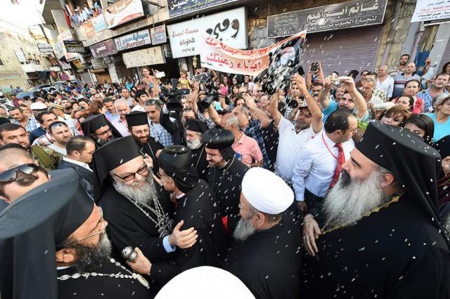 Patriarch John X in Safayta, Syria