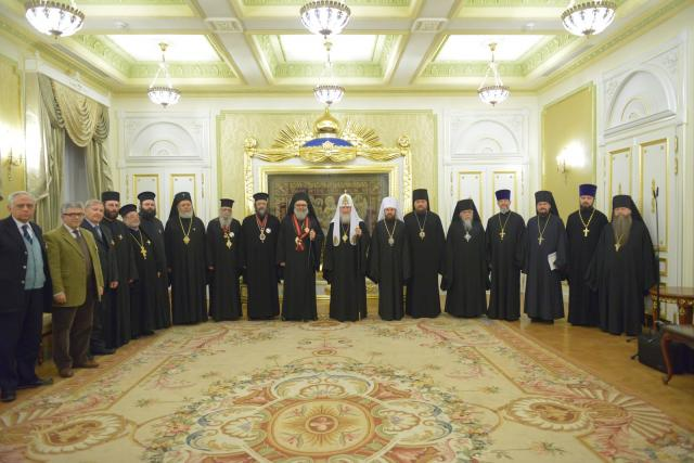 Patriarch John X and Delegation in Russia