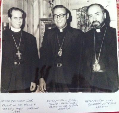 L to R: Fr. Zachariah, Metropolitan Philip, Metropolitan Elias of Tripoli, Lebanon