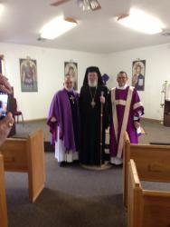 Bishop Basil with Fr. John and Dn. Basil