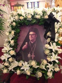 Metropolitan Philip's memorial photo at St. Nicholas Cathedral