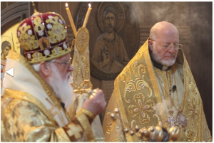 Metropolitan Kallistos with Archbishop Joseph in Riverside, CA