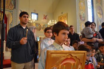 St. Nicholas Antiochian Orthodox Christian Cathedral of Los Angeles, CA, celebrates the Ceremony of the Presentation of Boys
