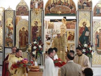 Bishop Thomas presides over the Procession of the Holy Cross on the Feast of the Exaltation (Elevation) at St. George in Allentown, PA