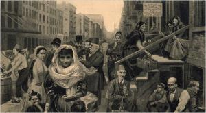 """The Syrian Colony, Washington Street "" by W. Bengough"