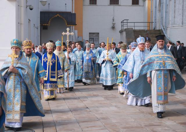 The Procession around the Cathedral at the end of the Divine Liturgy