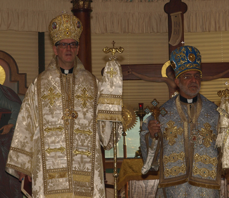 Bishop Thomas and Bishop Anthony at retreat Liturgy