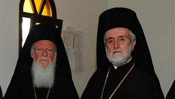 Patriarch Bartholomew I and Metropolitan John of Pergamum