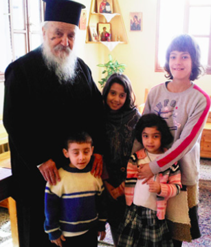 These young wards of a Church-run orphanage in northern Greece were provided heating oil