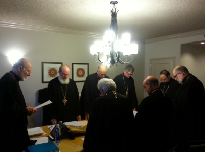 The hierarchs gathered in prayer in Florida meeting, October 2014