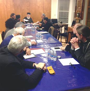 His Grace Bishop Basil leads the 2013 Secretariat meeting