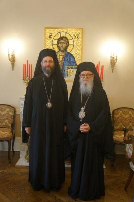 Metropolitan Silouan and Archbishop Demetrios June 2014 a