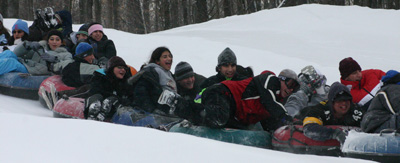 Snow tubing at Antiochian Village Winter Camp