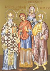 Hieromartyr Zenobius and the Martyr Zenobia
