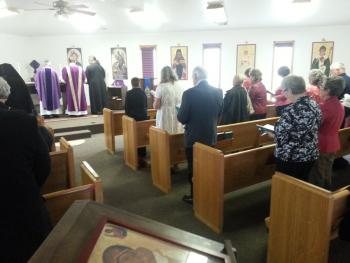 Bishop Basil presides over Divine Liturgy
