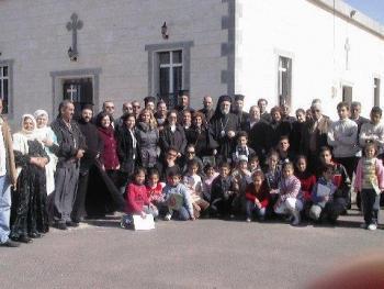 Post-Liturgy on St. Eleftherios Day in Al-Sweda, Bosra-Hauran, Syria