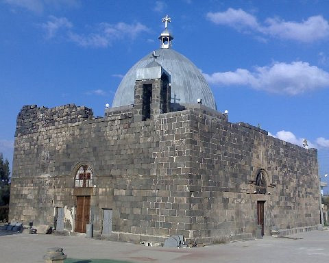 St. George Church (A.D. 515) in Izra, Syria