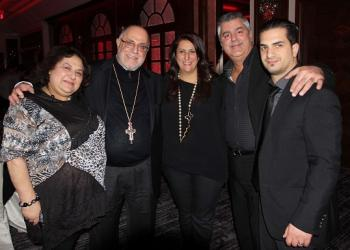 Economos Antony Gabriel (second from left) celebrates the success of the evening with event organizers (left to right) Terry Diab Peterfy, Carla Tabah Akkaoui, Gary Tabah and Jason Bolanis
