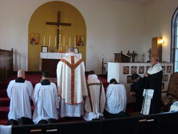 Bishop THOMAS Visits St. John the Baptist Mission in Lewistown, MD