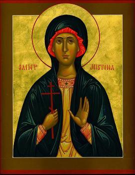 Virgin Martyr Justina of Nicomedia